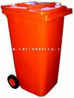 Thùng đựng rác HDPE  240 lít nắp kín