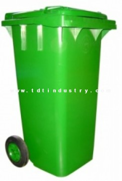 Thùng đựng rác HDPE 120 lít  nắp kín